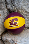 "4"" Soft Touch Flying C Maroon and Gold Football"