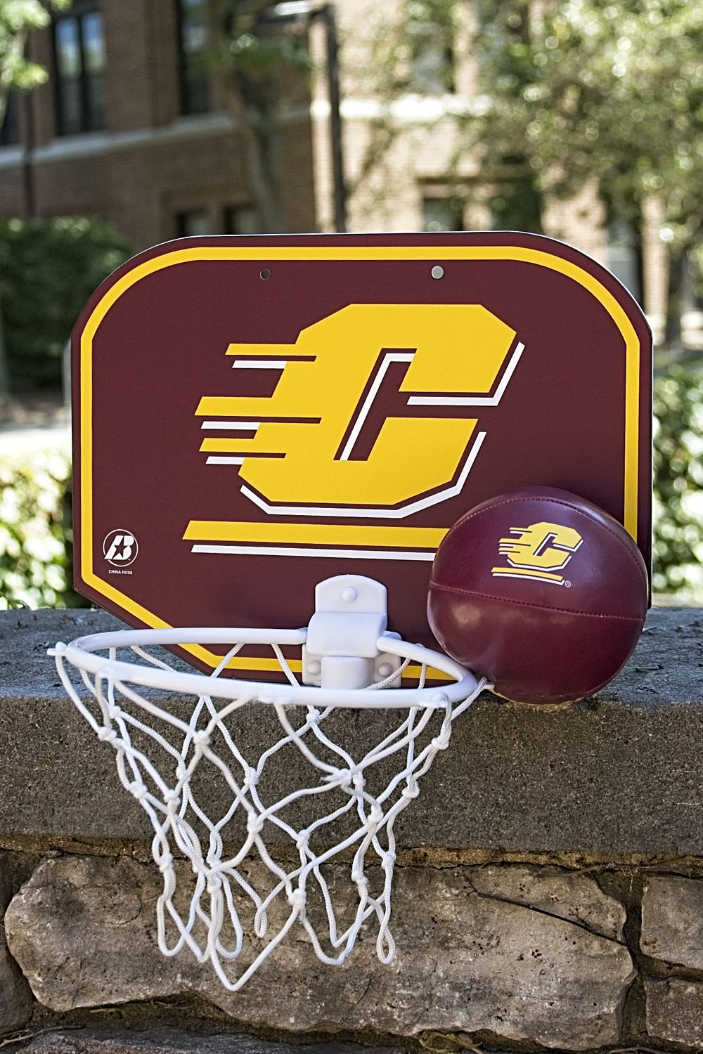 Flying C Maroon And Gold Soft Basketball With Hoop (SKU 5016246847)