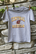 Youth Central Michigan Flying C T-Shirt - Heather Gray