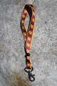Wrist Lanyard Maroon And Gold Flying C