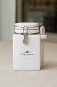 White Central Michigan Chippewas Kitchen Canister With Wooden Spoon