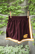 Youth Flying C Maroon Shorts With White And Gold Stripe