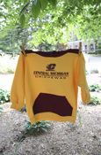 Flying C Central Michigan Chippewas Maroon And Gold Hoodie