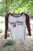 Central Michigan Flying C Chippewas Maroon And White Long Sleeve