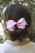 Pink Ribbon Double Loop Bow Barrett