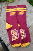 Child's Flying C Chippewas Central Michigan Maroon Socks