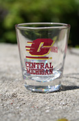 Flying C Central Michigan 2 oz Shot Glass with Chippewas on back