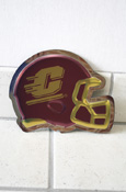 Football Helment Flying C Wall Hanging