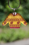 Chippewas Flying C Holiday Sweater Key Chain