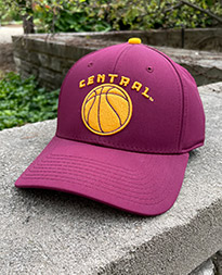 Maroon Central Basketball Cap