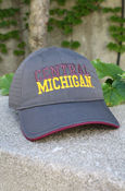 Central Michigan Graphite Hat With Perforated Back