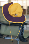 Boonie Hat - Maroon And Gold Flying C With Repeat Flying C Under Brim