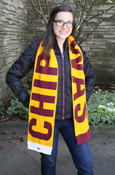 Reversible Chippewas Maroon, Gold, And White Scarf