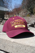 Maroon Central Michigan Alumni Cap