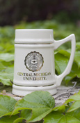 24 Oz Central Michigan University Seal Ivory Tankard