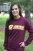 Flying C Central Michigan University 1892 Maroon Long Sleeve