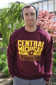 Central Michigan University Flying C Est. 1892 Maroon Crew
