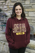 Block Central Michigan Oval Alumni Maroon Hoodie