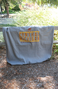 "54X84"" Flying C 1892 Central Michigan University Sweatshirt Blanket - Gray"