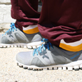 Adidas Maroon Flying C Sweatpants with Gold and White Stripe along Hem