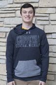 Under Armour Chippewas Central Michigan Dark And Light Gray Hoodie