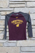Central Michigan Flying C Under Armour Maroon And Gray Youth Long Sleeve