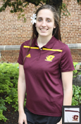 Ladies Line Flying C Adidas Polo - Maroon