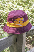 Adidas Flying C Gold Stripe Maroon Bucket Hat