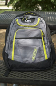 Ogio Tribune Striped Backpack With Green Details