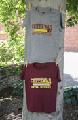 Oxford Gray Or Maroon Chippewas Line Flying C Central Michigan Youth T-Shirt