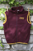 C M U Maroon Youth Vest With Gold Trim