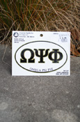 Omega Psi Phi - Oval Euro-Style Decal