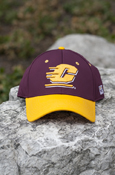 Raised Flying C Maroon Hat With Gold Brim
