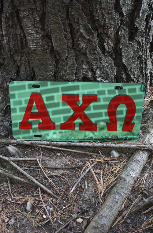 Alpha Chi Omega - Mirrored License Plate (SKU 5020562280)