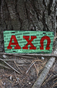 Alpha Chi Omega - Mirrored License Plate