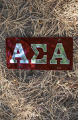 Alpha Sigma Alpha - Mirrored License Plate