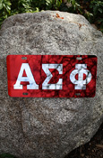 Alpha Sigma Phi - Mirrored License Plate