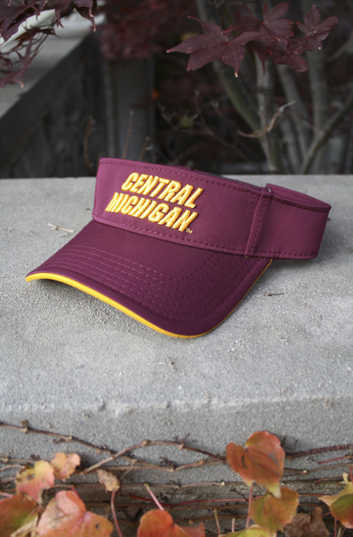 3D Central Michigan Maroon Visor With Chippewas On Back (SKU 5020769528)