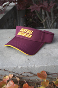 3D Central Michigan Maroon Visor With Chippewas On Back