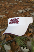 3D Central Michigan White Visor With Chippewas On Back