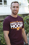 Adidas Central Michigan Hoops Line Flying C T-Shirt