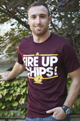 Fire Up Chips Line Flying C Adidas T-Shirt