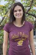Script Central Michigan University Chippewas Flying C Ladies T-Shirt