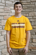 Adidas Gold Central Michigan Basketball Chippewas T-Shirt