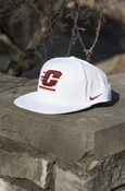Nike Flying C White Hat With Chippewas On Back
