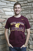 Nike Central Michigan Flying C Chippewas Maroon T-Shirt
