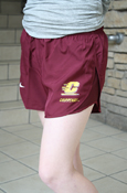 Flying C Chippewas Nike Ladies Maroon Running Shorts