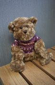 Teddy Bear With Central Michigan Holiday Sweater