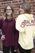 Spirit Jersey Cowl Neck - Central Michigan University Maroon Or Gold