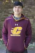 Flying C Maroon Under Armour Hoodie With Gold Details